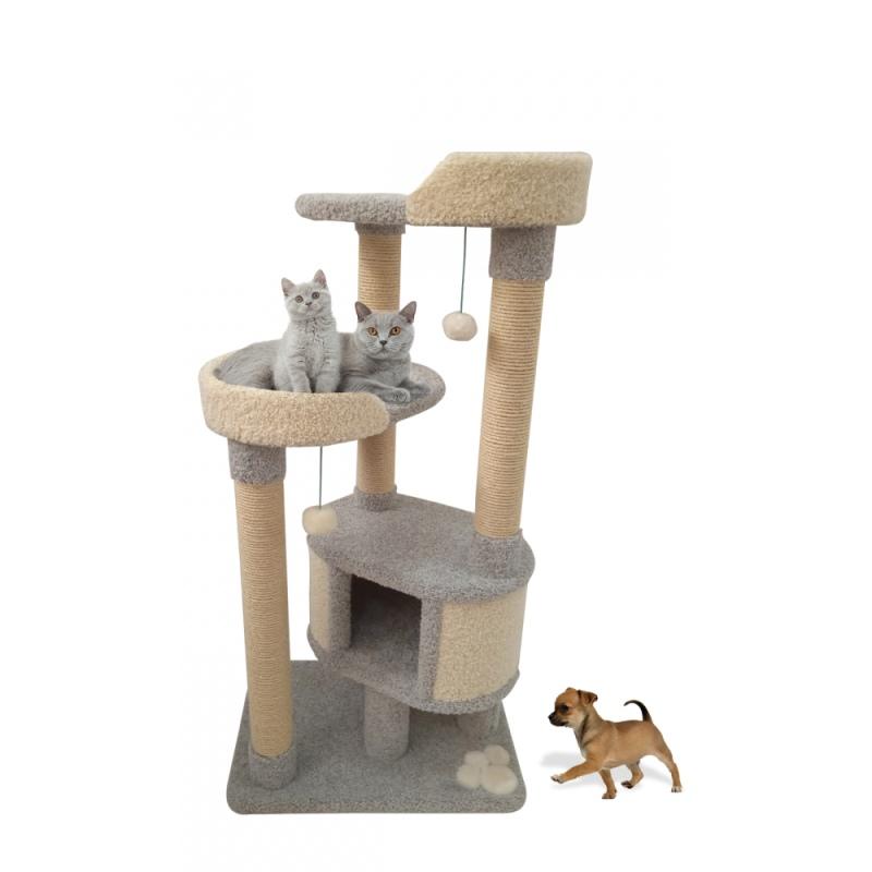 Ковролиновый многоярусный комплекс для кошки