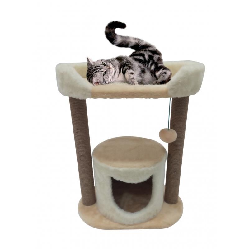Дом для кота с лежанкой, фиолетовый