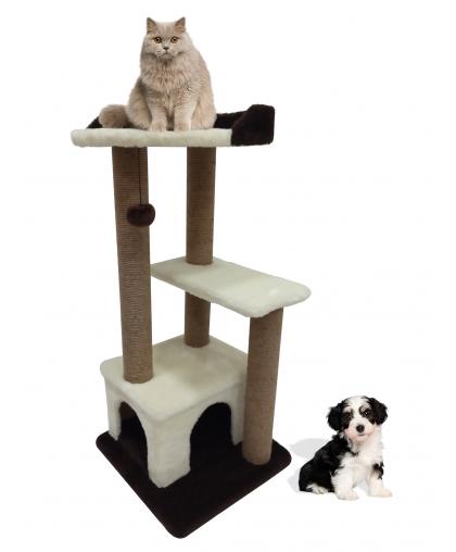 (Арт-306)Комплекс когтеточка с домиком и лежанкой для кошек