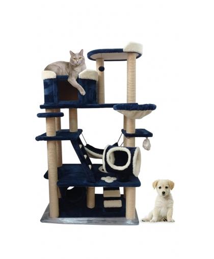 ((ЗООПОЛЮС-499) Вилла для кошки. Супербольшой игровой комплекс с гамаками, тоннелями, лежанками и просторным домиком