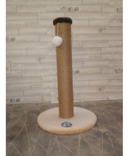Когтеточка столбик с основанием и шариком для кошек (Арт-706)