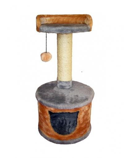 Когтеточка-домик с лежанкой высотой 27 см для кошек (Арт-02210)