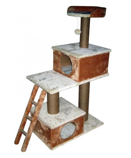 Домик для кошек с лежанкой и  когтеточкой для крупных.арт 1090
