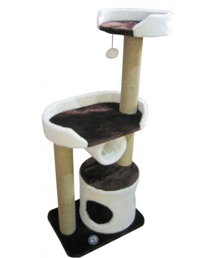 Домик для кошек с лежанкой и тоннелем (Арт-1510)