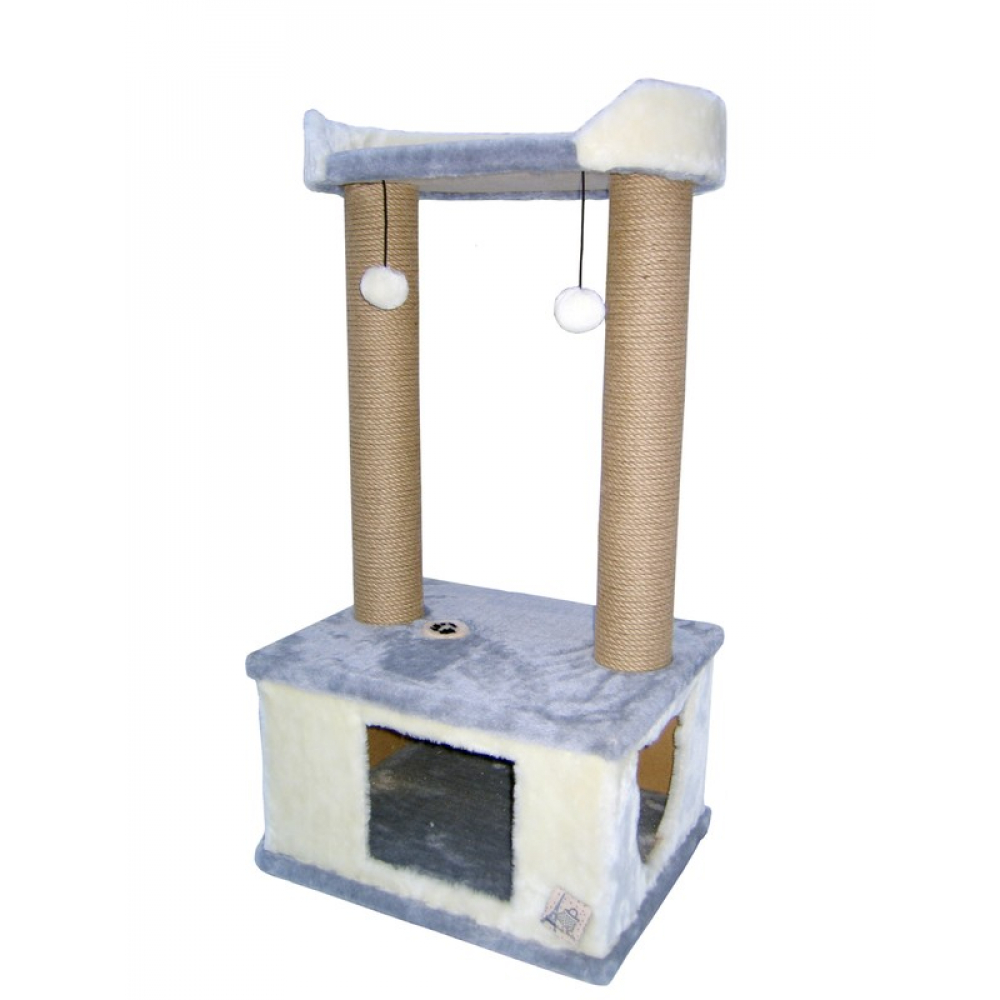 Домик с лежанкой и канатом джут 100 см