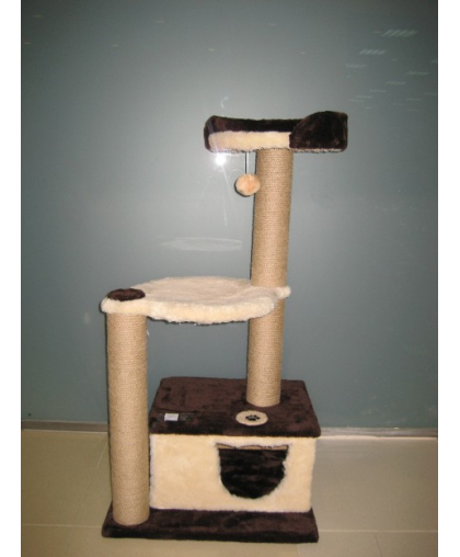 Домик для кошек с гамаком, лежанкой и когтеточкой высотой 115 см (Арт-50)