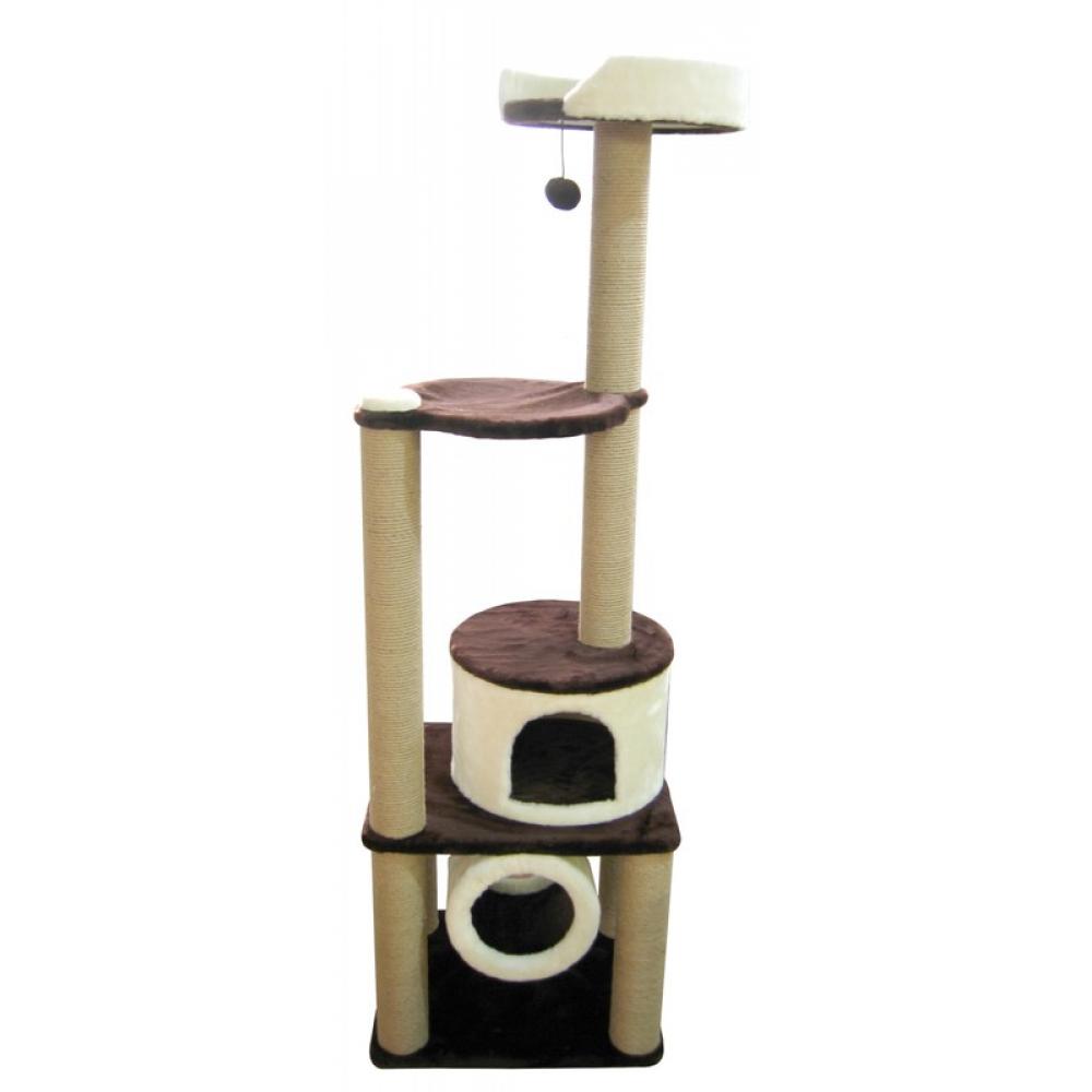 Домик для кошек с тоннелем, лежанкой  с бортиком и гамаком