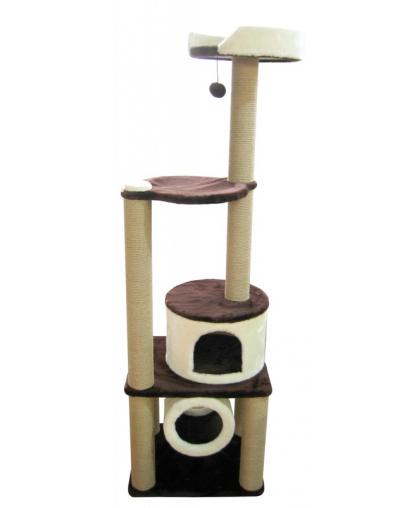 Домик для кошек с тоннелем, лежанкой  с бортиком и гамаком (Арт-76)