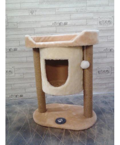 Домик с основой и лежаком высотой 70 см для кошек (Арт-98)