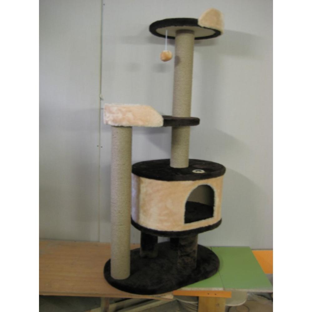 Комплекс для кошек с домиком и лежанками