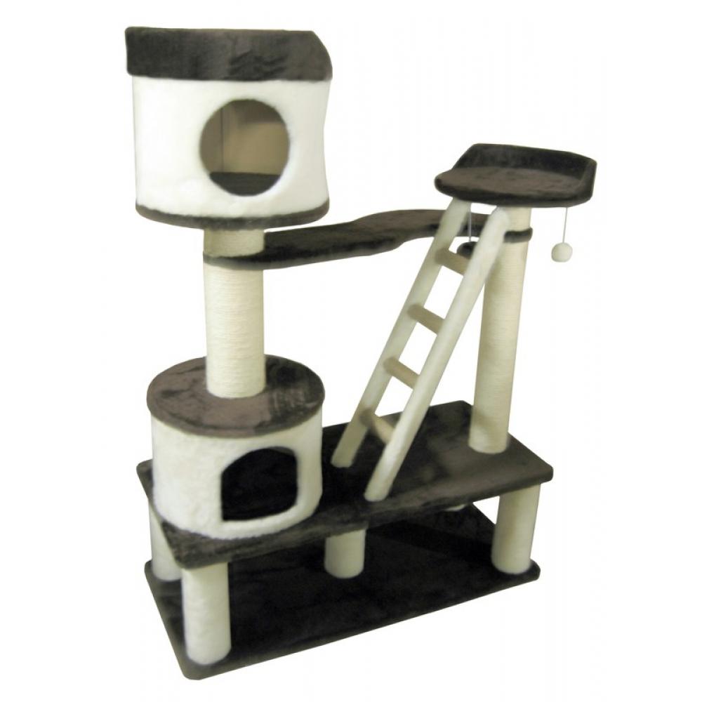 Домики-крепость для кошек с лежанкой и лесенкой