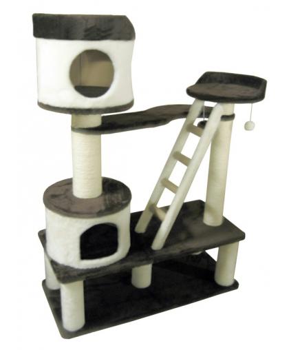 Домик крепость для кошек и лежанкой, столбом высотой 100см (арт 018)