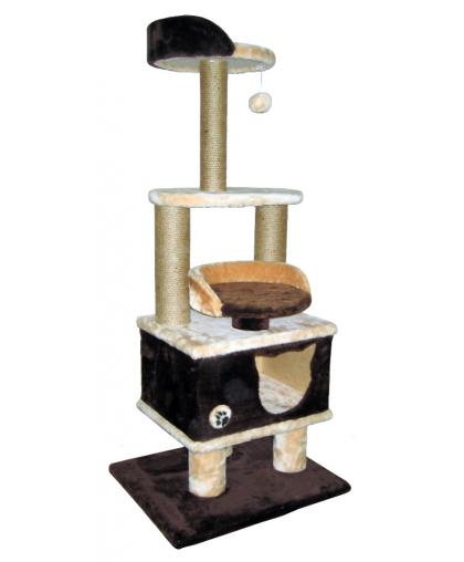 Домик для кошек лежанки, полочки,когтеточка высотой 140см (арт 044)