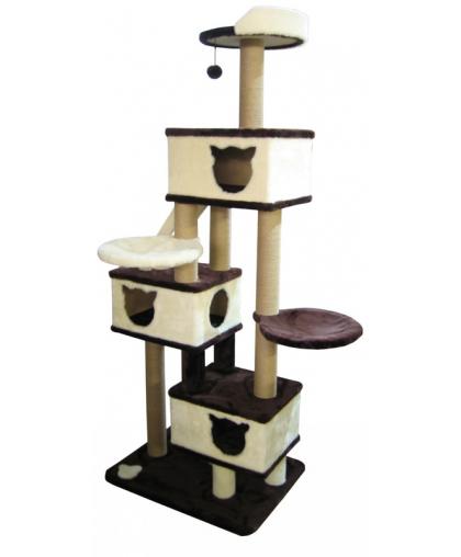 Домик для кошек с 2-мя гамаками, лесенкой, лежанкой (арт 0009)