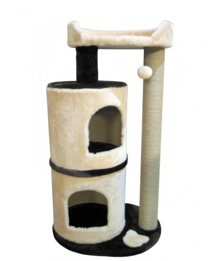 Два домика для кошек с лежанкой и бортом высотой 100 см (Арт-38)