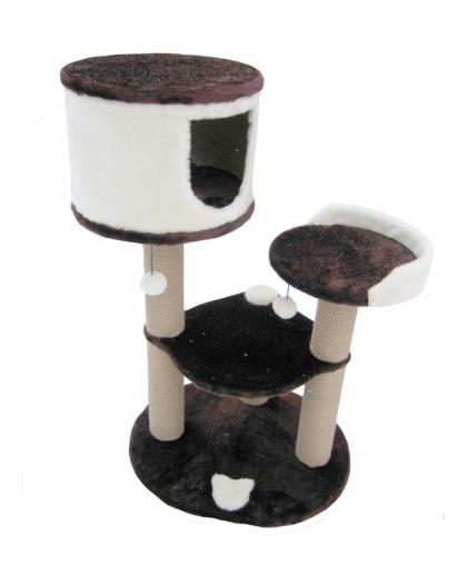 Домик для кошек с лежанкой и гамаком, выстой 110см (арт 4)