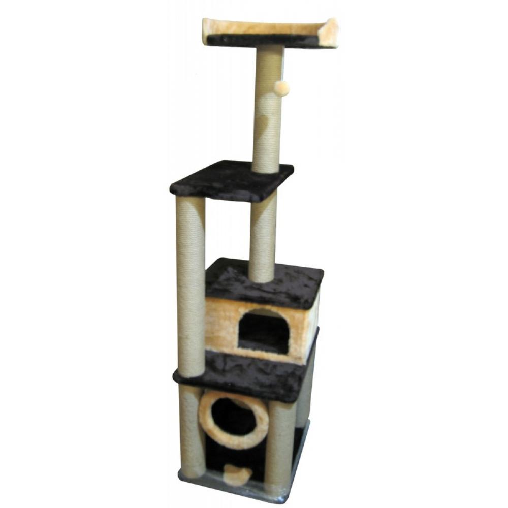 Домик для кошек с тоннелем и лежанкой высотой 170 см