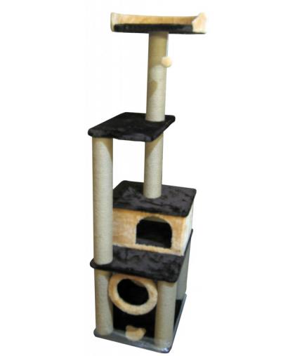 Домик для кошек с тоннелем и лежанкой высотой 170 см (Арт-71)
