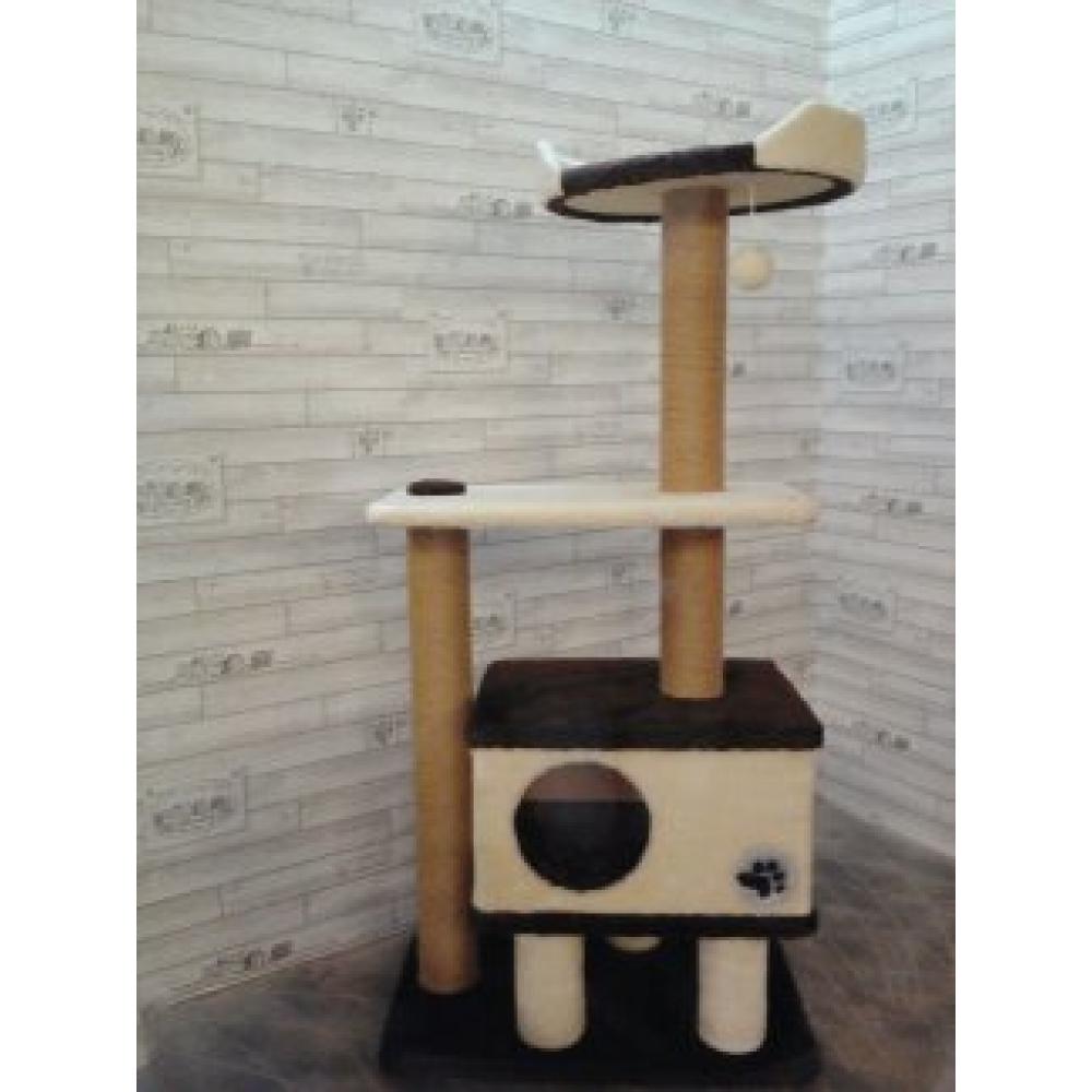 Домик для кошек с когтеточкой высотой 146 см