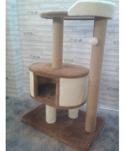 Домик для кошек с лежанкой высотой 112 см (к2010)