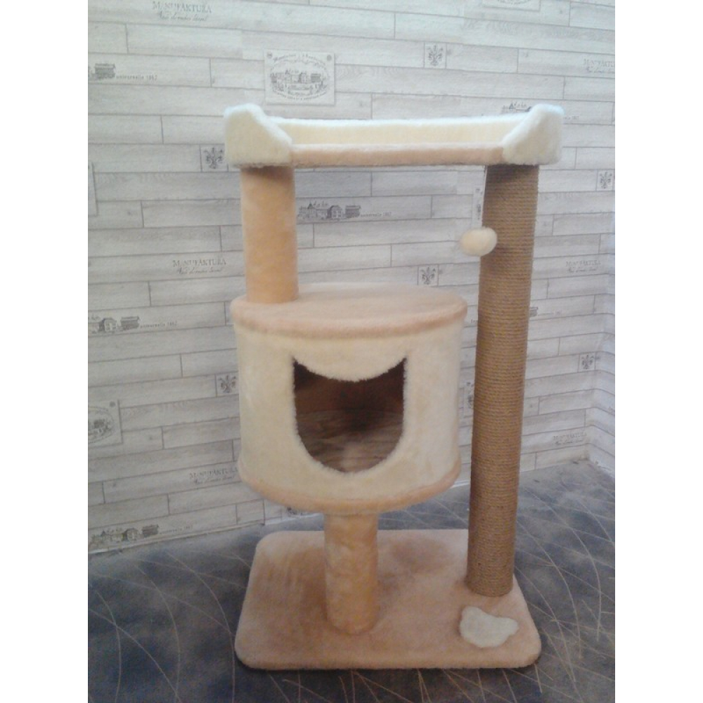 Домик для кошки с лежанкой и когтеточкой