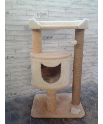 Домик для кошки с лежанкой и когтеточкой (к29)