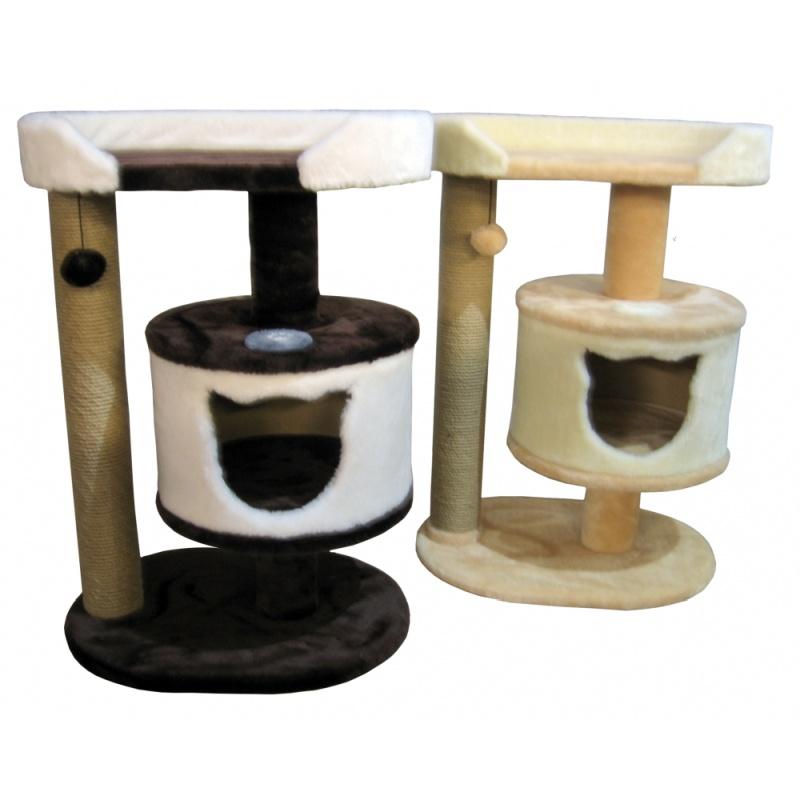 Мини-комплекс с домиком, когтеточкой и лежанкой