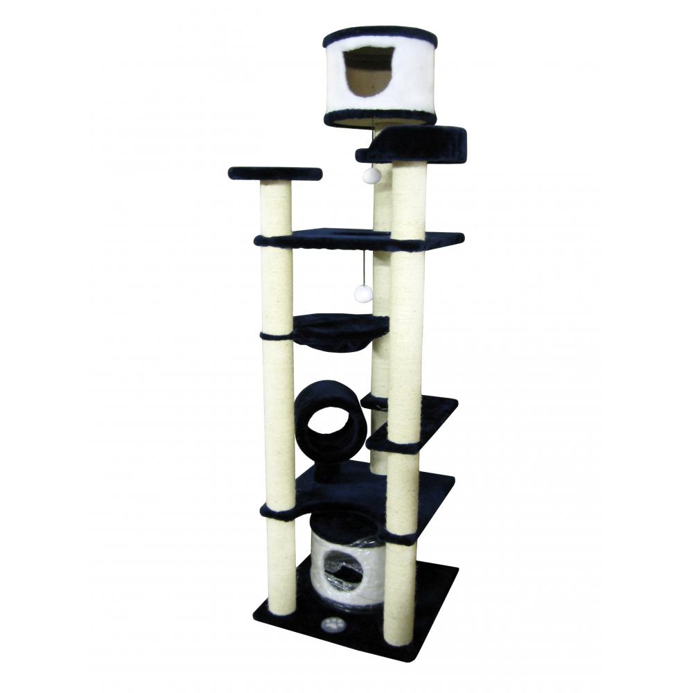 Домик для кошек с сизалевой когтеточкой, тоннелем, гамаком высотой 210 см