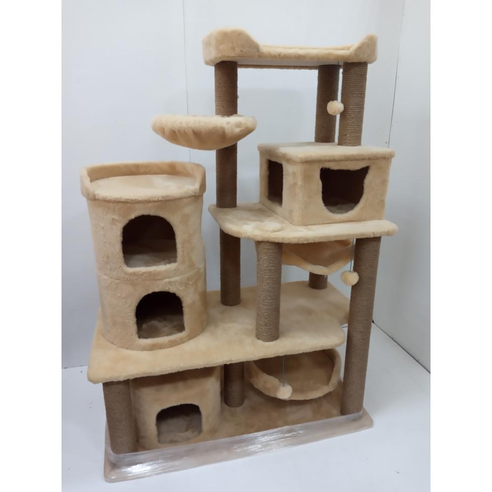 (ЗООПОЛЮС-322 ) Большой кошачий город с просторными апартаментами гамками и лежанками для нескольких кошек