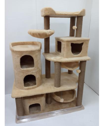 (ЗООПОЛЮС-322 )Комплекс с большими домиками и лежанками для нескольких кошек