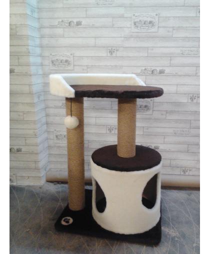 Дом-цилиндр с лежаком для кошек (Арт-303)