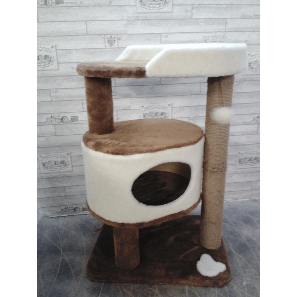 Домик с площадкой и игрушкой для кошек