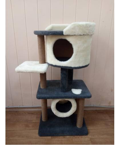 Зоополюс-244 Когтеточка игровой комплекс для кошки многоуровневый с тоннелем