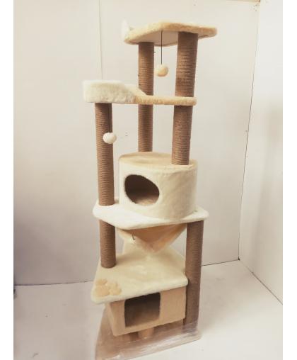 (ЗООПОЛЮС-1048) Комплекс когтеточка для кошки многоуровневый высокий(187 см)