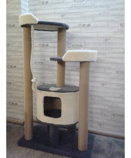 Игровой комплекс для кошек с большим домом (Арт-115)