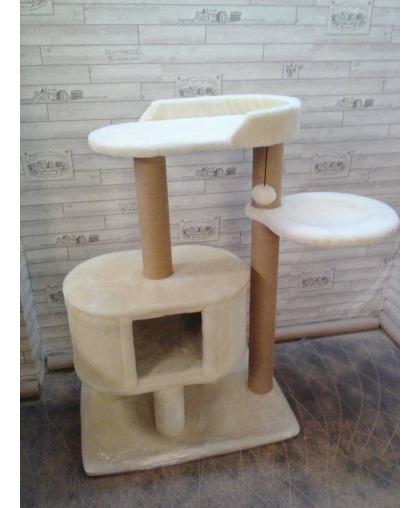 Большой домик с лежанкой и гамаком для кошек (Арт-2013)