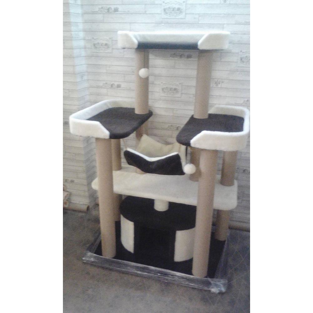 Комплекс с тремя лежанками и гамаком для крупных и средних пород котов