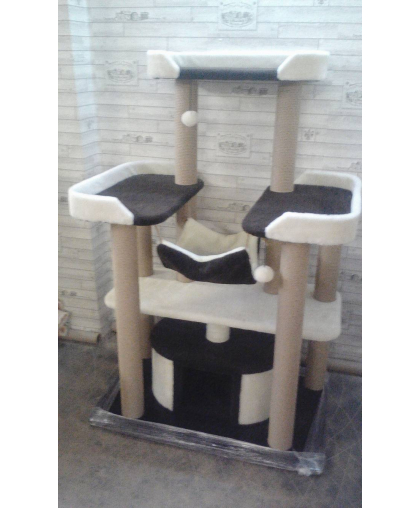 Комплекс с тремя лежанками и гамаком для крупных и средних пород котов (Арт-11)