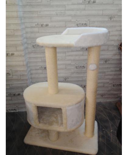 Домик-лежанка для больших кошек с сизалевыми когтеточками (Арт-2010)