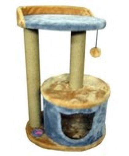 Домик с лежанкой с бортом и когтеточками для кошек (Арт-222)