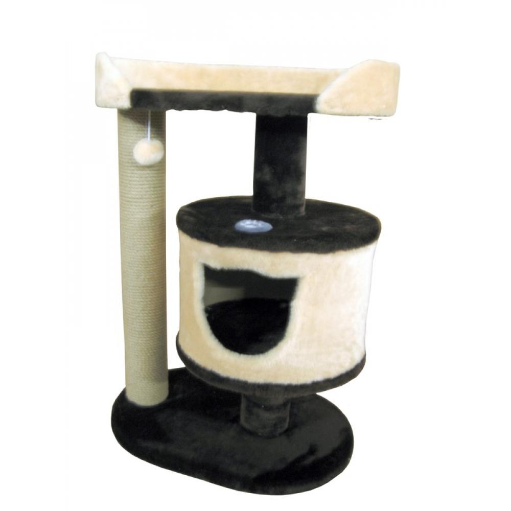 Домик с лежанкой для кошек высотой 80 см