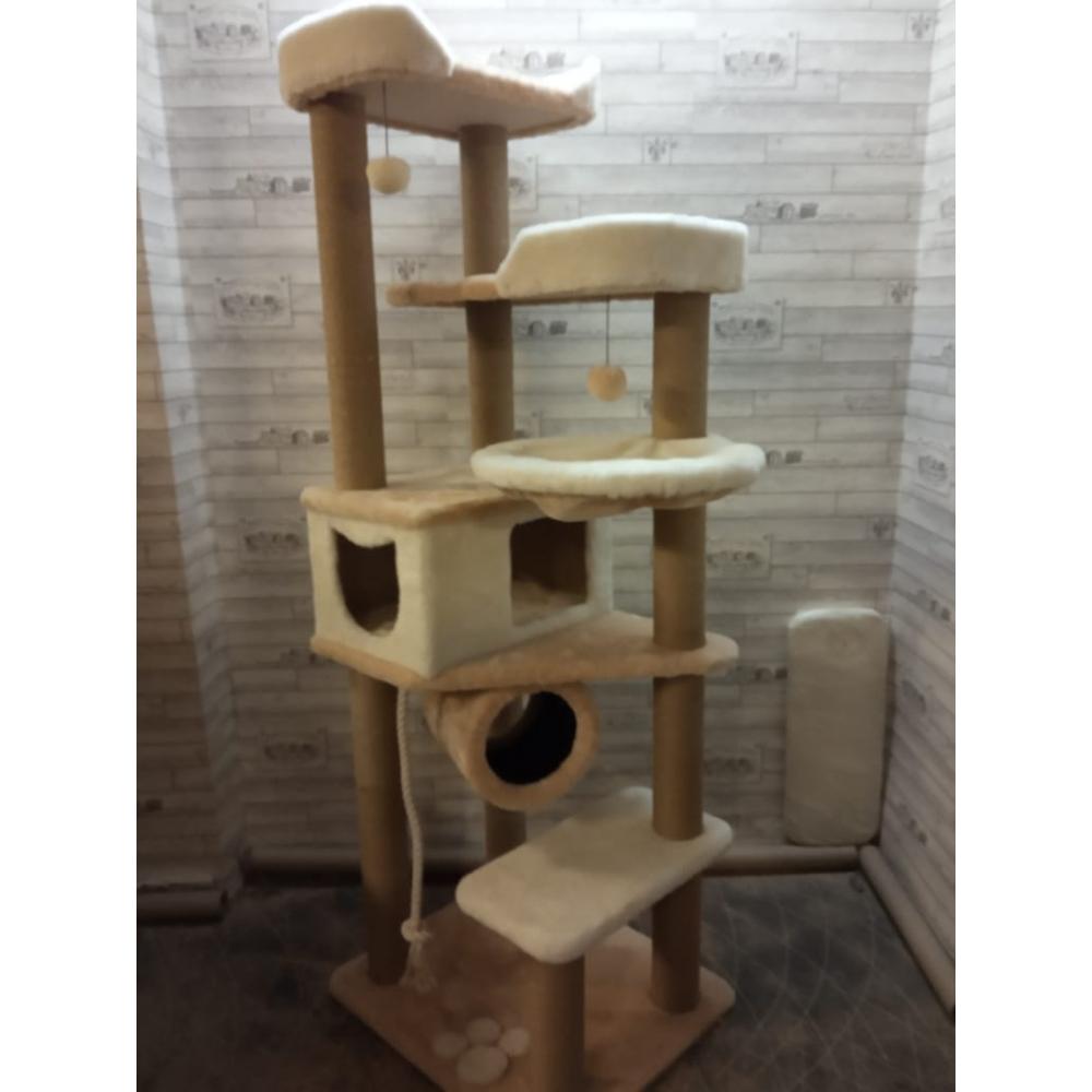 Высокий комплекс для активных кошек средних и маленьких пород (Арт-180)