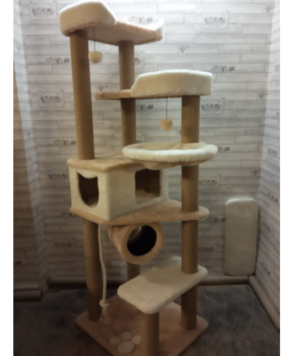 Высокий комплекс для активных кошек средних и мелких пород (Арт-180)