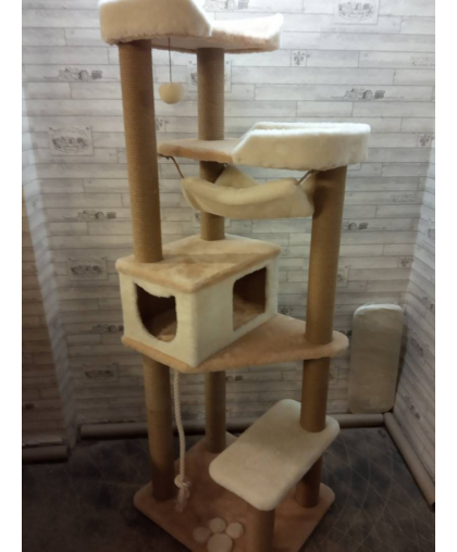 Высокий комплекс для одной или нескольких кошек (Арт-181)