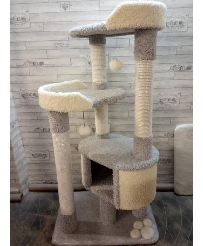 С домиком и лежанками комплекс для кошки  (Арт-136) ковролин