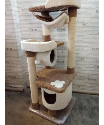 Домик для кошки с тоннелем и гамаком (Арт-138)