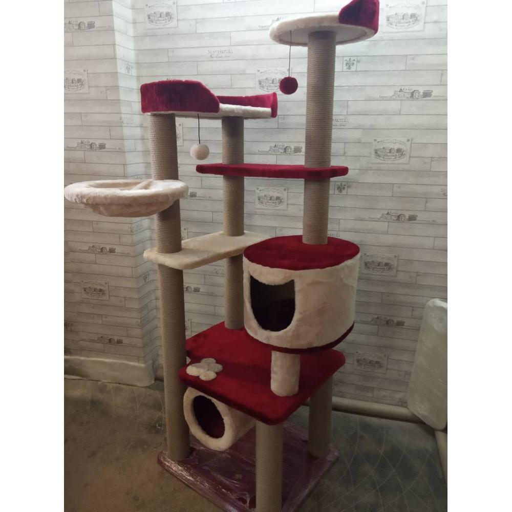 Высокий комплекс со ступенями и игрушками