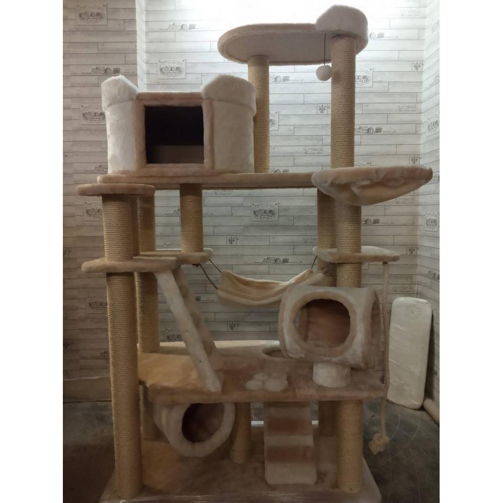 Вилла для кошки. Супербольшой игровой комплекс с гамаками, тоннелями, лежанками и просторным домиком