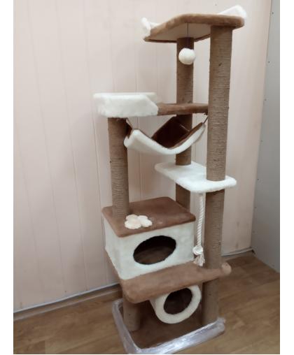 ЗООПОЛЮС-212 Для кошки игровой комплекс с лежанками и гамаком
