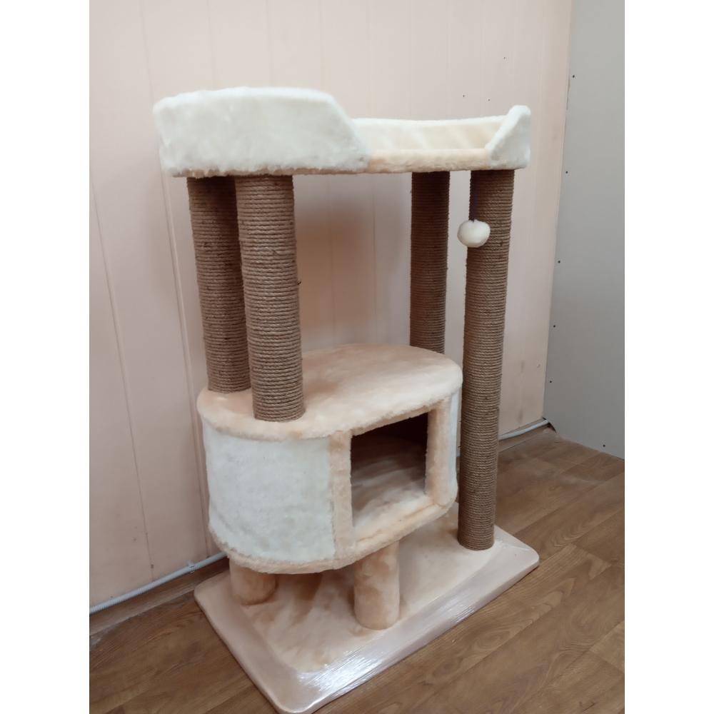 Когтеточка с домиком для мейнкунов и крупных пород кошек